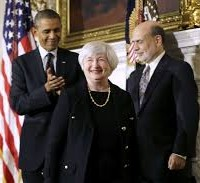 Barack Obama Janet Yellen Ben Bernanke