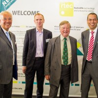 Left to right Cllr,Simon Robinson (Ruchcliffe B.C.)  Richard Priestley (Exeid), Ken Clarke QC MP, David Ajose ( Exeid)