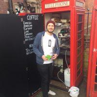 Coffee shop in a phone box