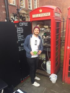 Coffee shop in a phone box