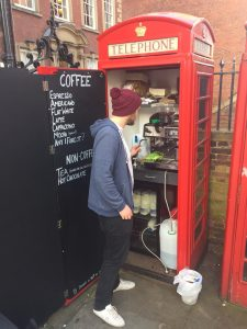 Luke from Nottingham has possibly opened the smallest café in the UK.